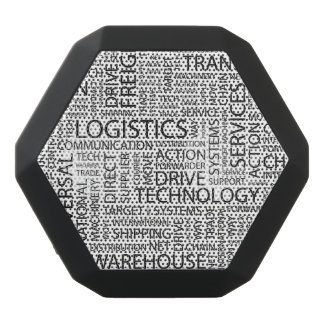 LOGISTICS pattern with words Black Bluetooth Speaker