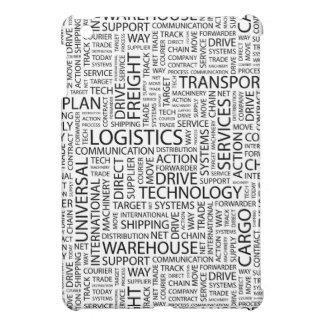 LOGISTICS pattern with words iPad Mini Cover