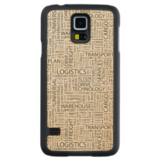 LOGISTICS pattern with words Maple Galaxy S5 Slim Case