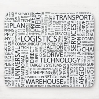 LOGISTICS pattern with words Mouse Pad