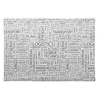 LOGISTICS pattern with words Placemat