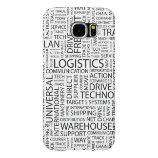 LOGISTICS pattern with words Samsung Galaxy S6 Cases
