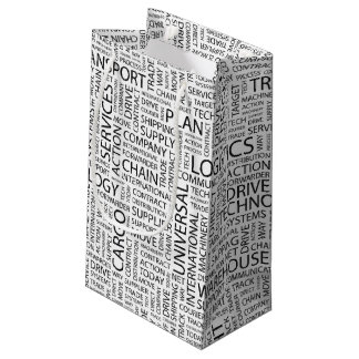 LOGISTICS pattern with words Small Gift Bag