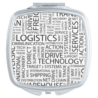 LOGISTICS pattern with words Travel Mirrors