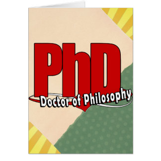 LOGO BIG RED PhD DOCTOR OF PHILOSOPHY Card
