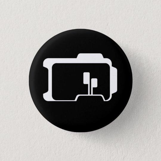 Logo (Black) 3 Cm Round Badge