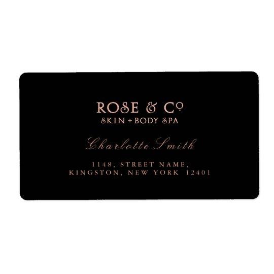 logo black pink rose gold return address labels zazzle co uk