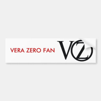 logo_black, VERA ZERO FAN Bumper Sticker