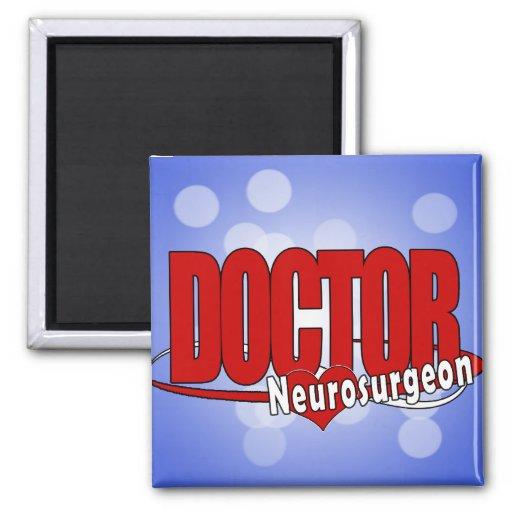 LOGO DOCTOR BIG RED  Neurosurgeon Refrigerator Magnets