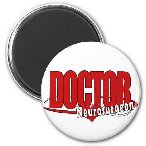 LOGO DOCTOR BIG RED  Neurosurgeon Refrigerator Magnet