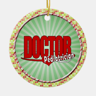 LOGO DOCTOR PEDIATRICIAN CHRISTMAS ORNAMENT