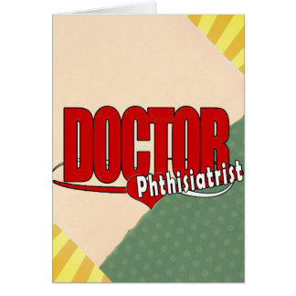 LOGO DOCTOR Phthisiatrist Greeting Cards