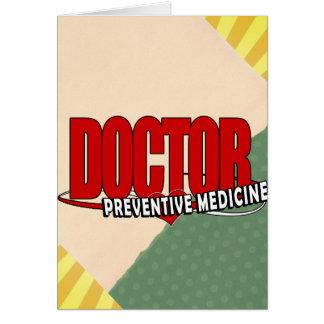 LOGO DOCTOR PREVENTIVE MEDICINE GREETING CARD