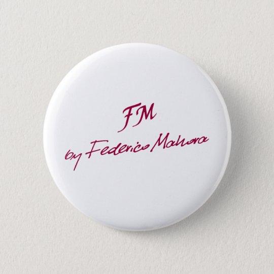logo [FM BY FEDERICO MAHORA] 6 Cm Round Badge