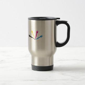 Logo for a restaurant or cafe stainless steel travel mug