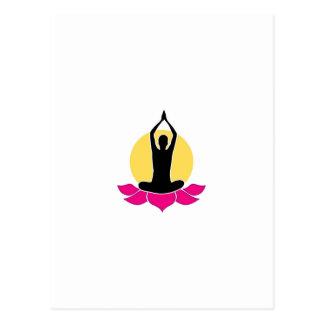 Logo for yoga or fitness center postcard