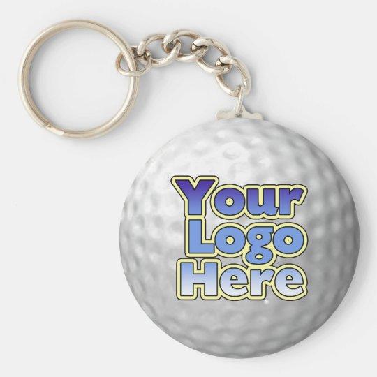 Logo Golf Ball Key Chain