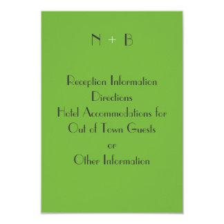 Logo Green Enclosure Card 9 Cm X 13 Cm Invitation Card