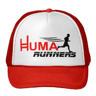 logo huma runners mesh hats
