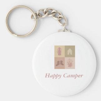Logo in pdf, Happy Camper Basic Round Button Key Ring