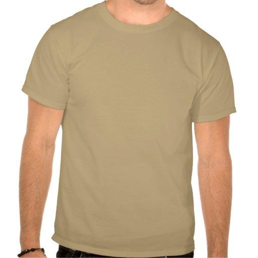 Logo in Tan T Shirt
