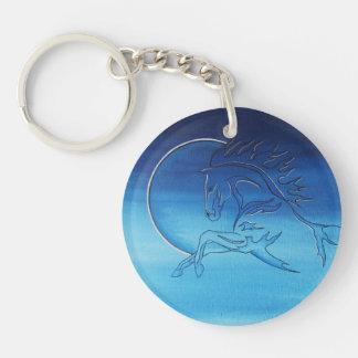 logo Double-Sided round acrylic key ring