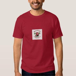 logo maroon shirt