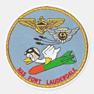 Logo of NAS Fort Lauderdale Round Sticker