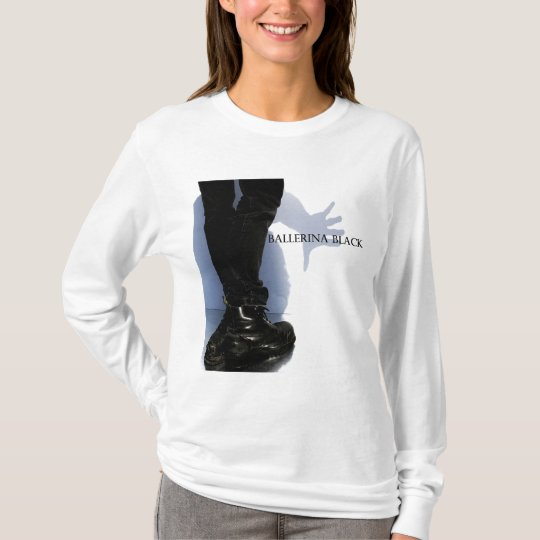 Logo on Women's White Long Sleeve T-Shirt