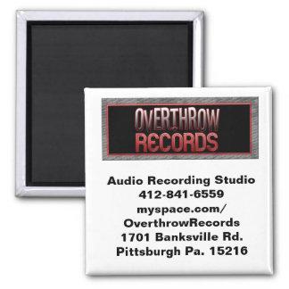 logo patches copy, Audio Recording Studio412-84... Square Magnet