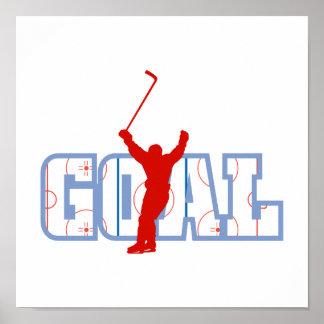 Logo - Red White & Blue Goal Poster