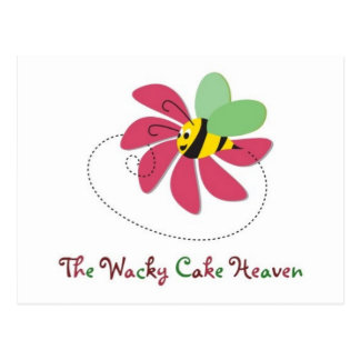 Logo The Wacky Cake Heaven Postcard