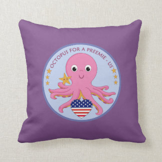 Logo Throw Pillow Octopus For A Preemie US