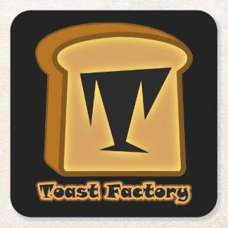 Logo Toastie Noob Black Coasters Square Paper Coaster