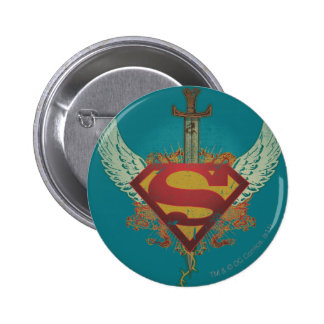 Logo with Wings - Blue Pinback Buttons