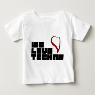 Logotipo-We-Love-Techno Baby T-Shirt
