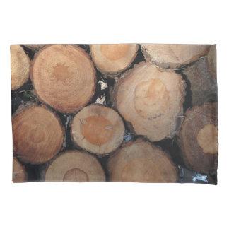 Logs and shells pillowcase