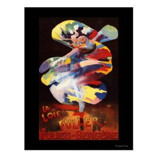 Loie Fuller at Folies-Bergere Theatre Postcard