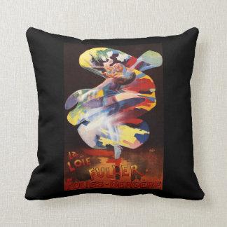 Loie Fuller at Folies-Bergere Theatre Throw Pillow