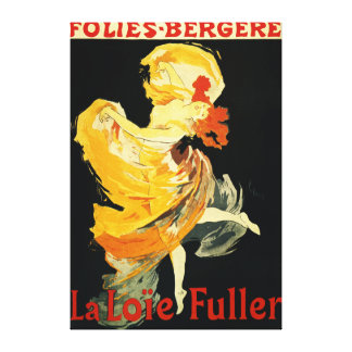 Loie Fuller at the Folies-Bergere Theatre Canvas Print