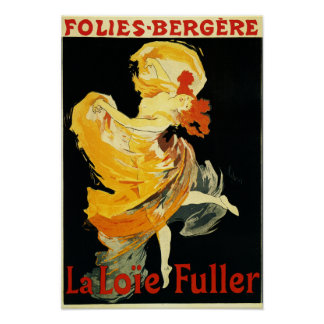 Loie Fuller at the Folies-Bergere Theatre Poster
