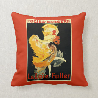Loie Fuller at the Folies-Bergere Theatre Throw Pillow