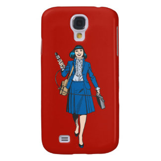 Lois Lane with Microphone Galaxy S4 Case