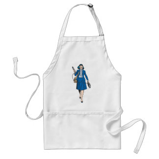 Lois Lane with Microphone Standard Apron