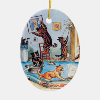 Lois Wain's Spring Cleaning Cats Christmas Ornament