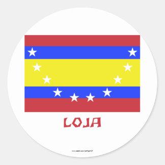 Loja flag with Name Round Sticker