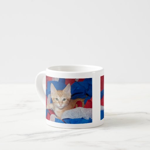 Loki in Red, White & Blue Espresso Mugs