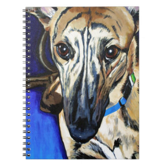 Loki - Lurcher dog Spiral Notebook