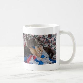 Loki s Litter in Red White Blue Mugs