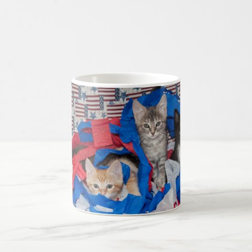 Loki's Litter in Red, White, & Blue Mug Coffee Mugs